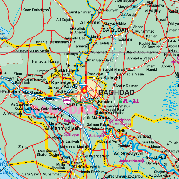 Iraq Travel Maps | Metro Map | Bus Routes | Metrobus Way Map ... Iraq Travel Maps