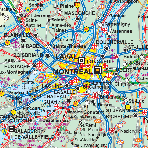 Maps For Travel City Road Guides Globes Topographic: Road Map Of Quebec At Infoasik.co