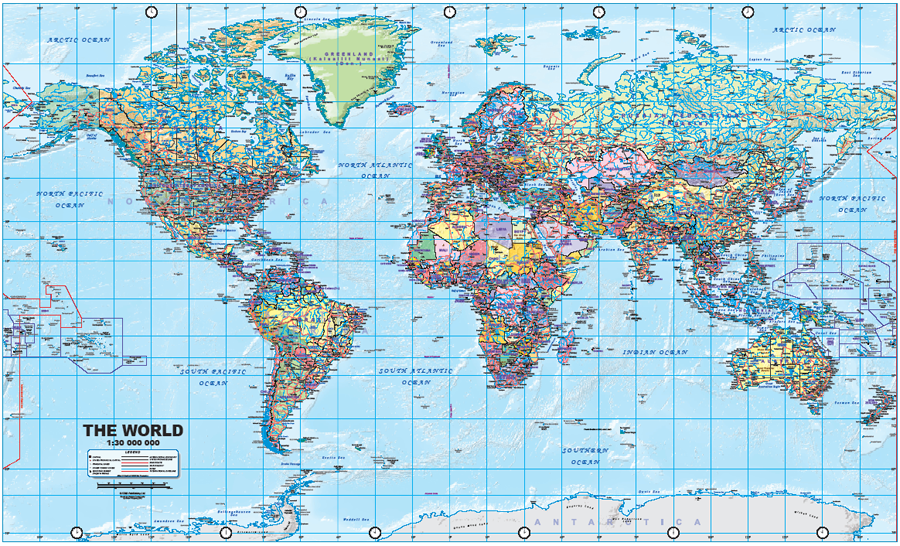 International Date Line On World Map.Maps For Travel City Maps Road Maps Guides Globes Topographic Maps