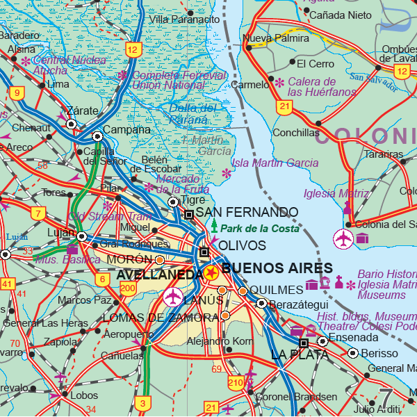 Maps For Travel City Maps Road Maps Guides Globes Topographic - Argentine railway map