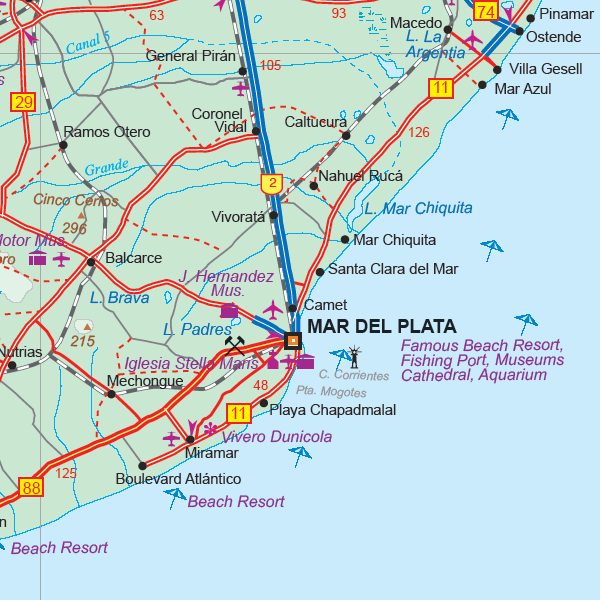 Maps For Travel City Maps Road Maps Guides Globes Topographic - Argentina travel map