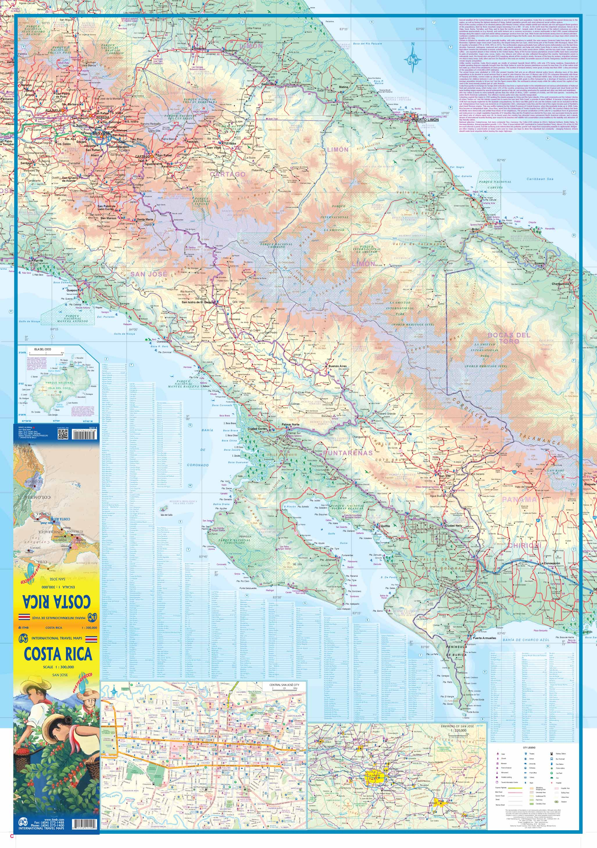 Maps for travel City Maps Road Maps Guides Globes Topographic – Travel Map Of Costa Rica