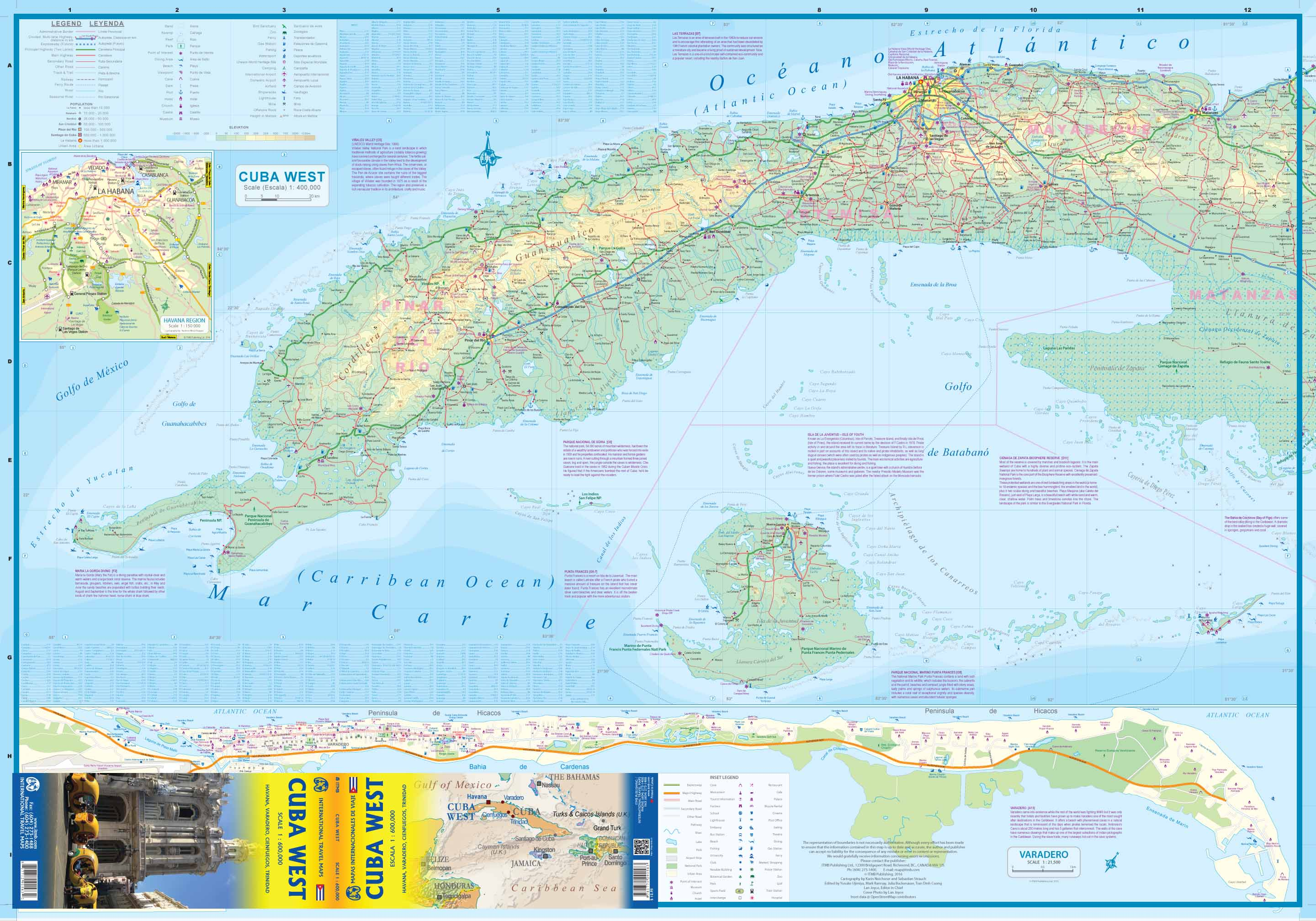 US And Cuba Map Cuba And USA Map Maps Of Cuba Peter Loud Map Of - Topographic map of western us