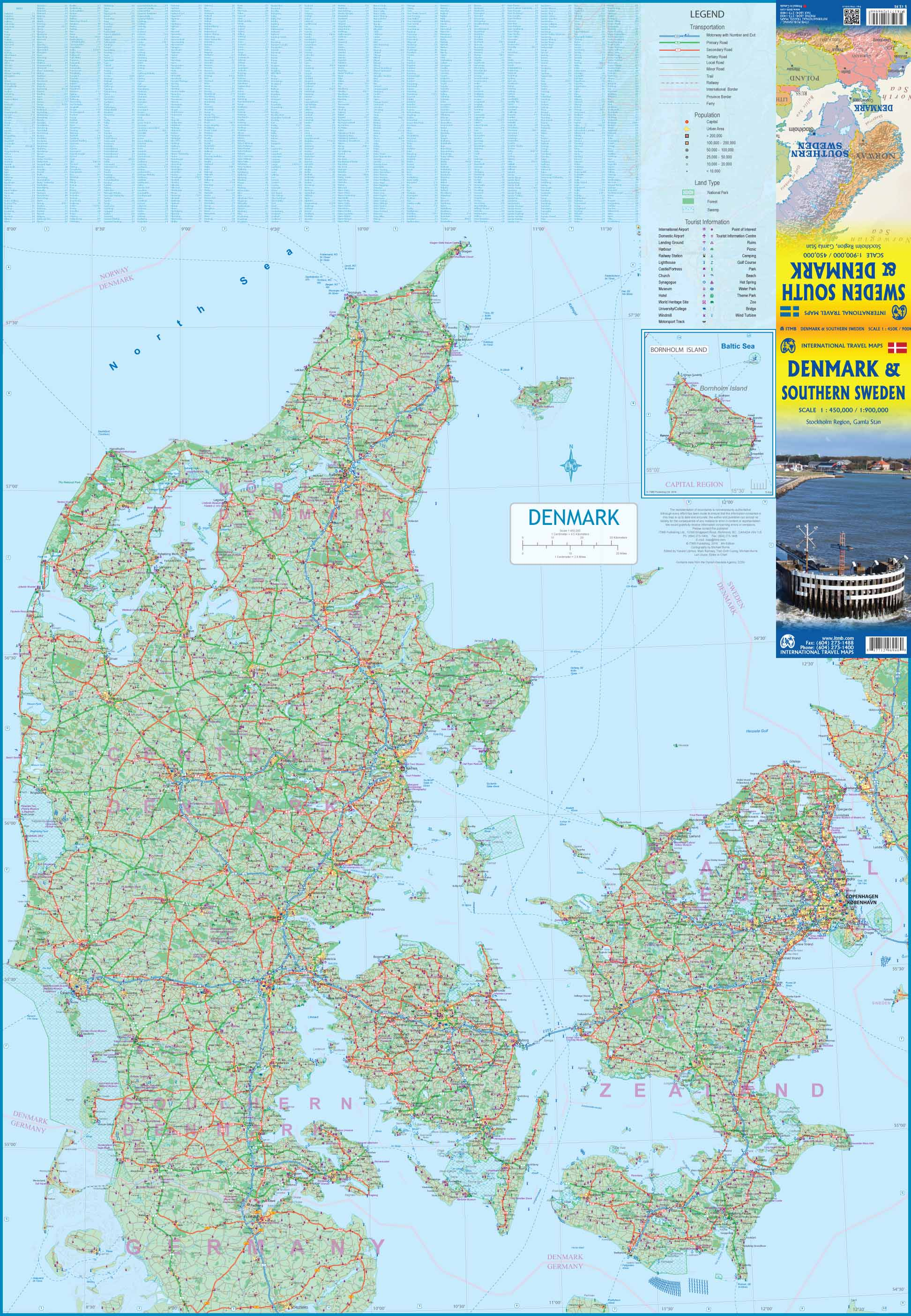 Denmark Topographic Map.Maps For Travel City Maps Road Maps Guides Globes Topographic Maps