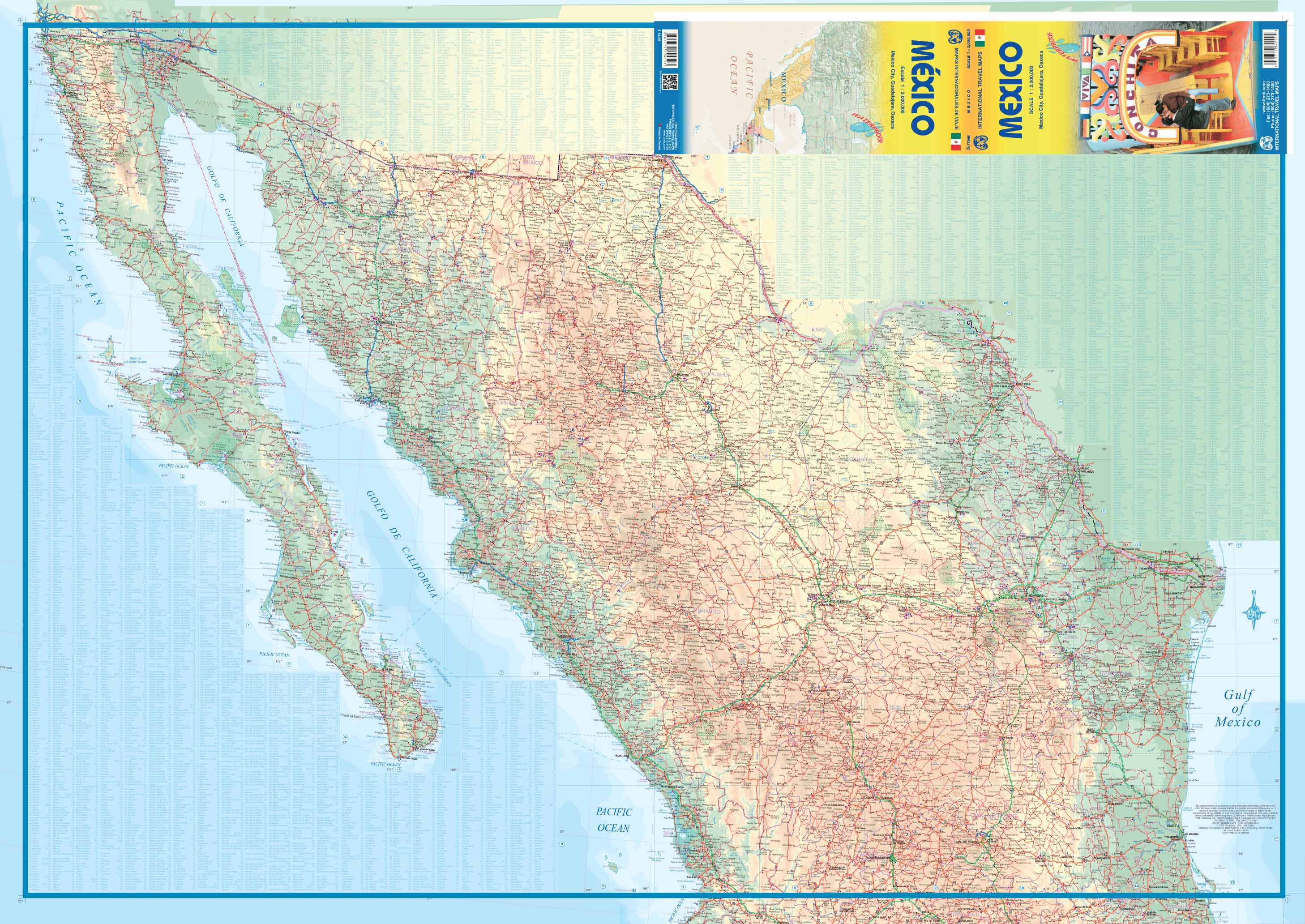 Maps For Travel City Maps Road Maps Guides Globes Topographic - Mexico road map