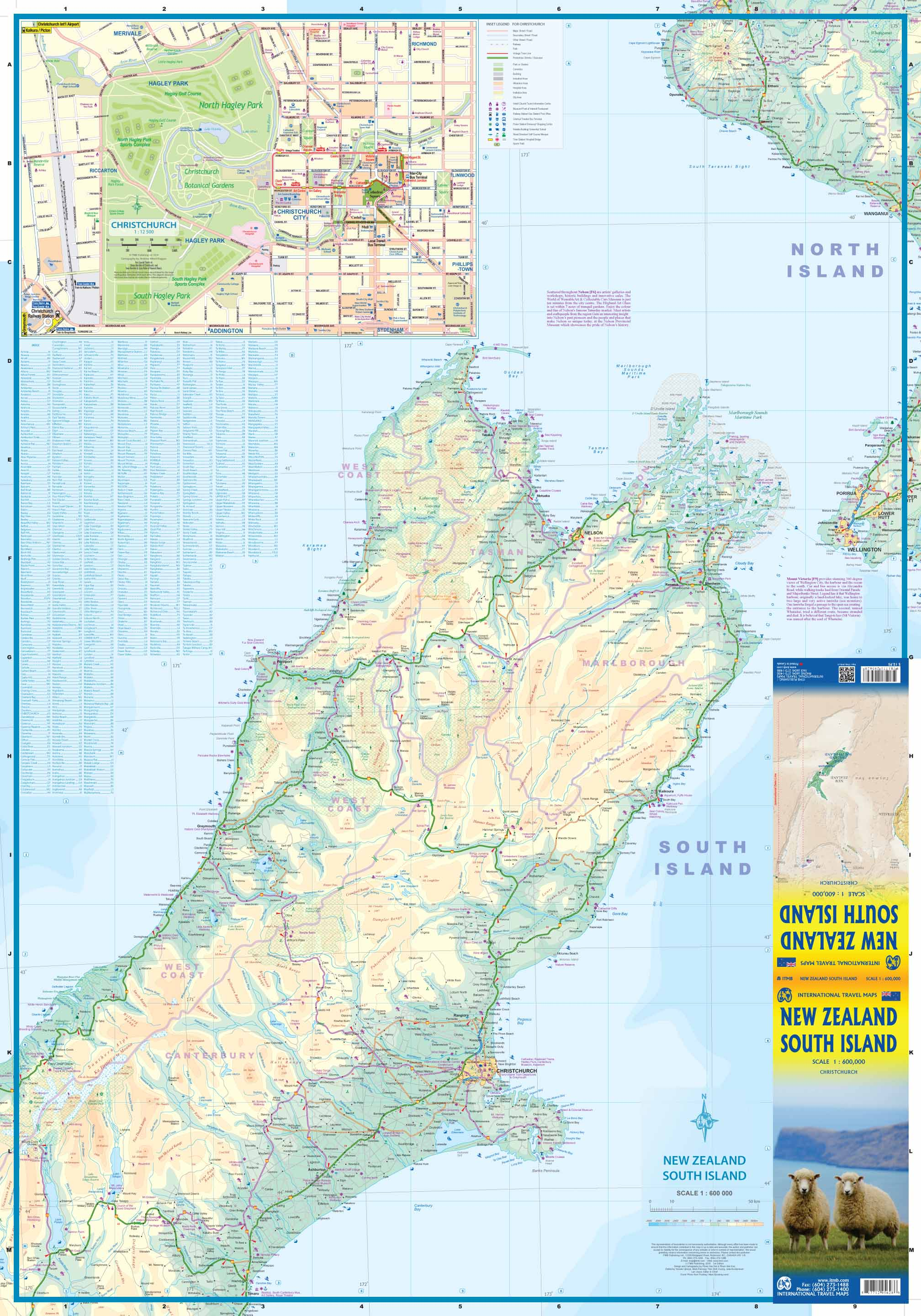 Road Map Of New Zealand South Island.Maps For Travel City Maps Road Maps Guides Globes Topographic Maps