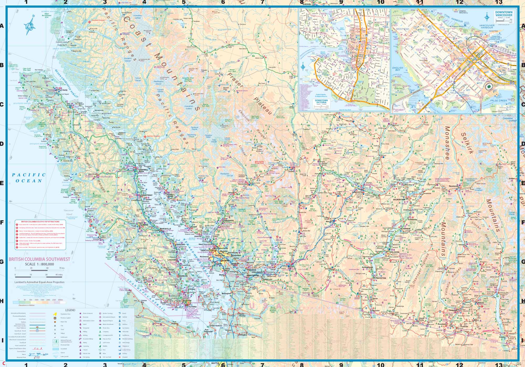 Bc Washington Map.Maps For Travel City Maps Road Maps Guides Globes Topographic Maps