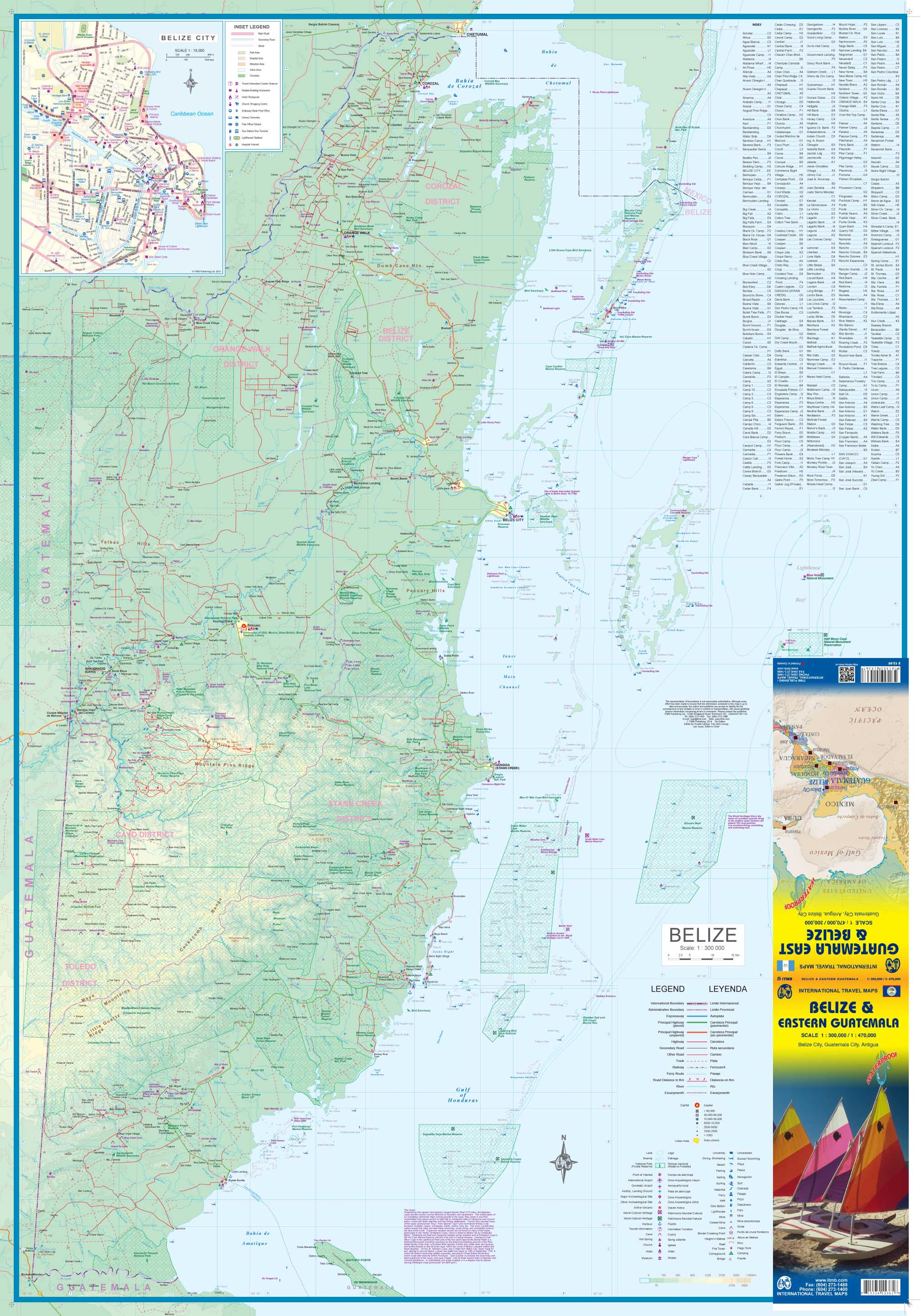 Maps for travel City Maps Road Maps Guides Globes Topographic – Belize Travel Map