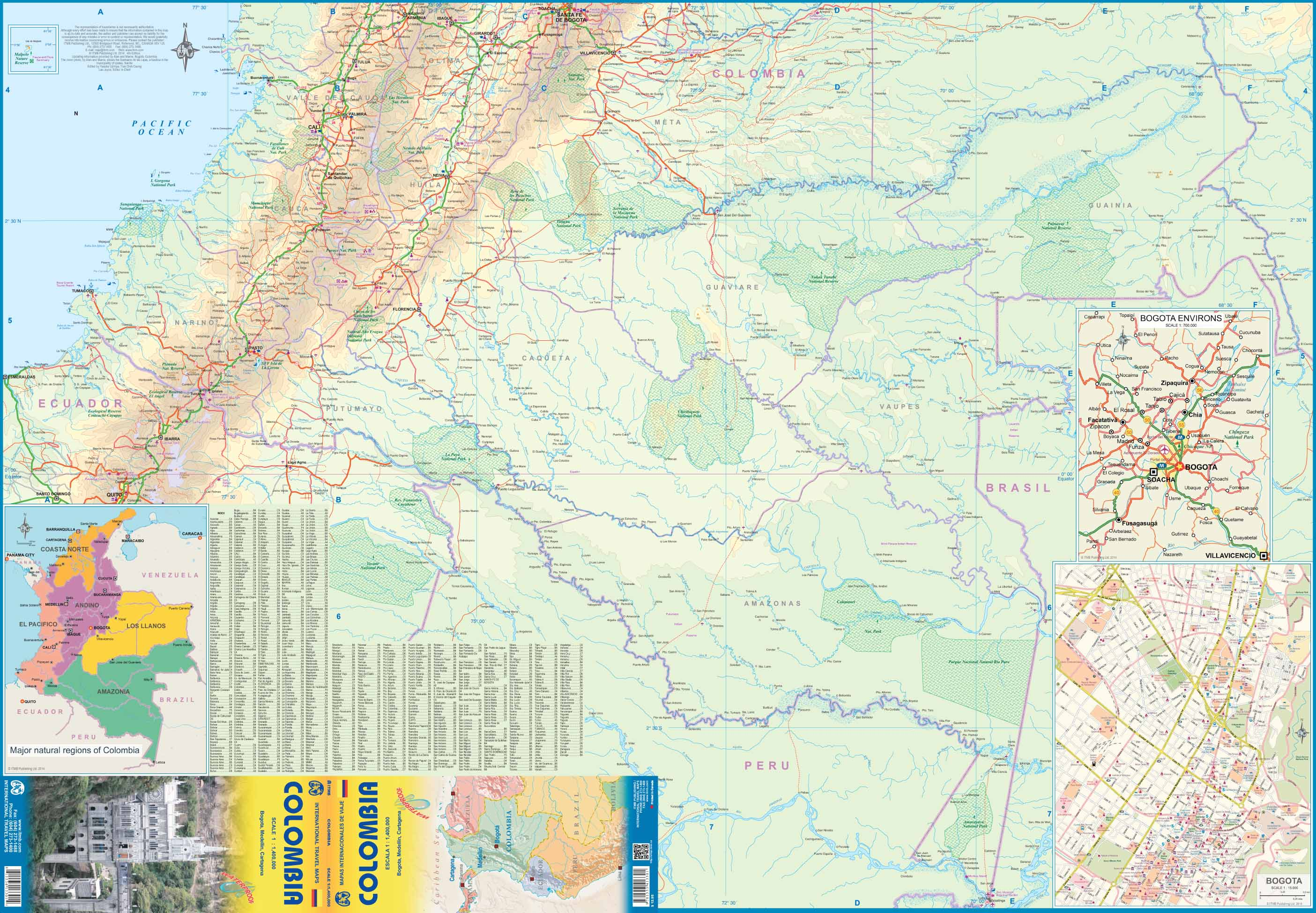 Topographic Map Of Colombia.Maps For Travel City Maps Road Maps Guides Globes Topographic Maps