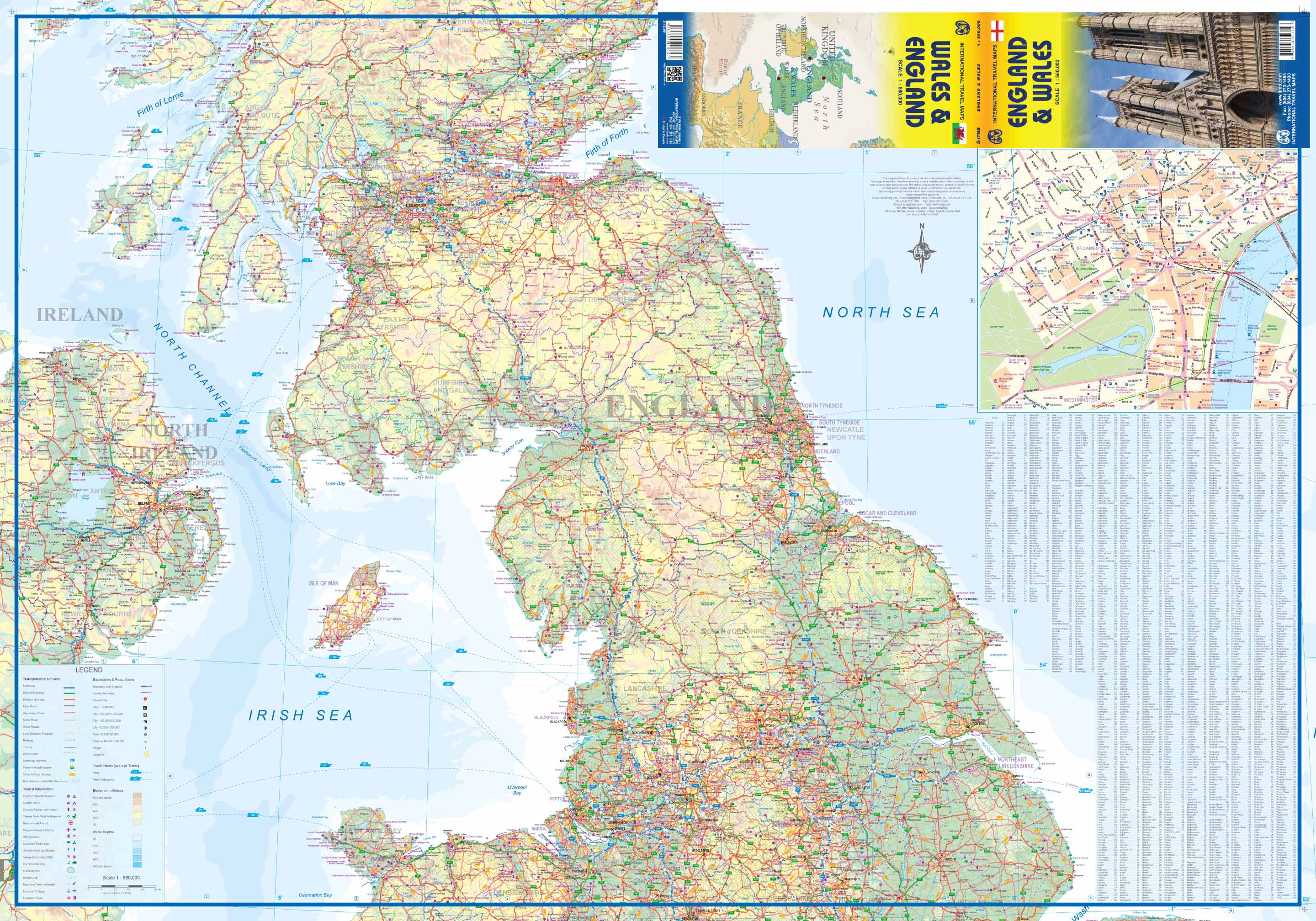 Maps for travel City Maps Road Maps Guides Globes Topographic – England Travel Map