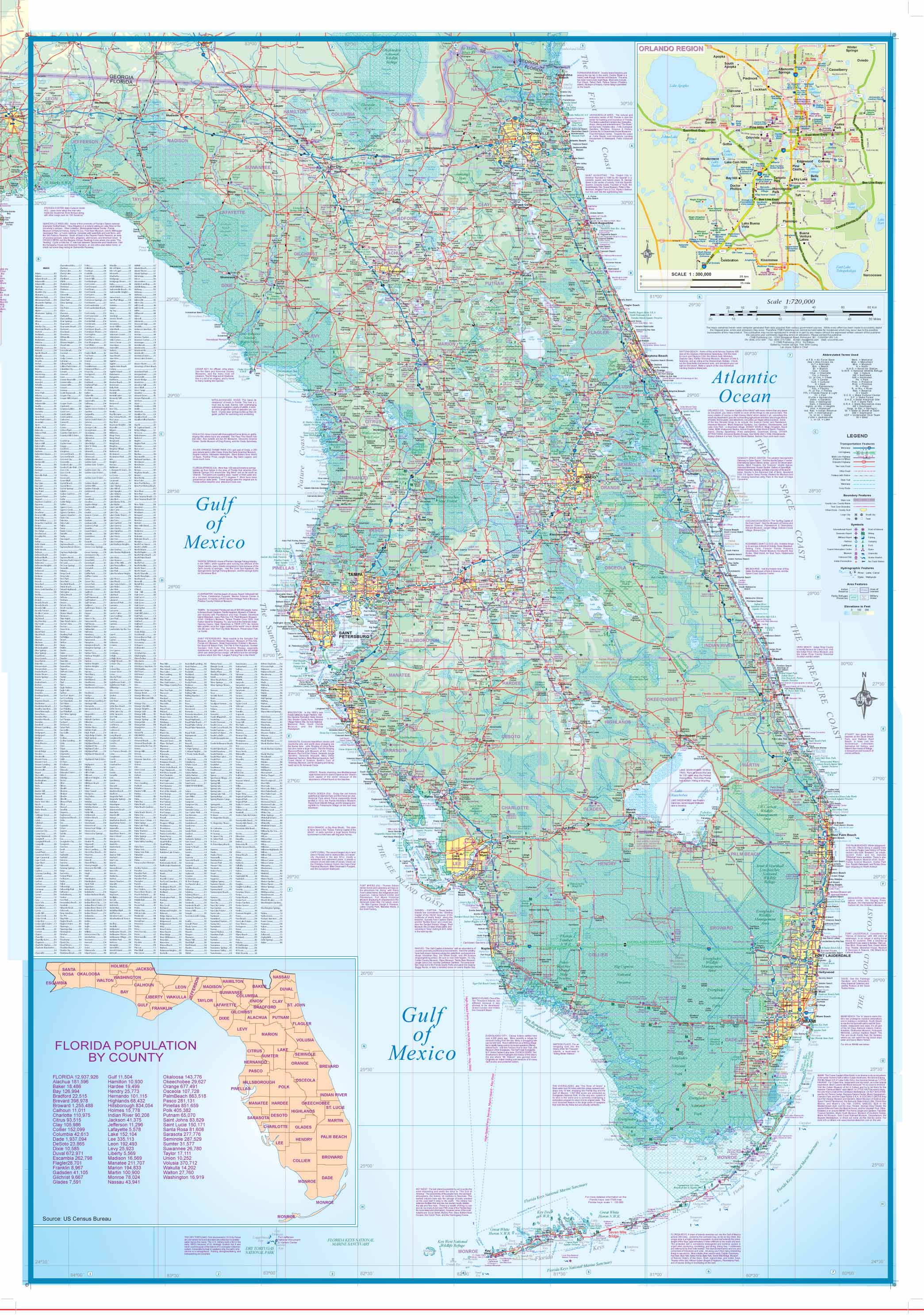 Maps for travel City Maps Road Maps Guides Globes Topographic – Florida Travel Map