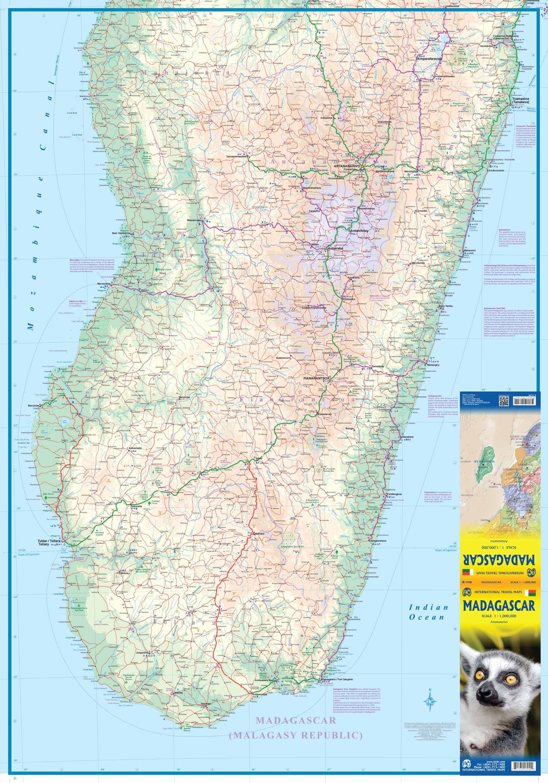 Carte Routiere Madagascar Gratuite.Carte Routiere De L Ile De Madagascar Au 1 1 000 000 Itmb Publishing Maptogo