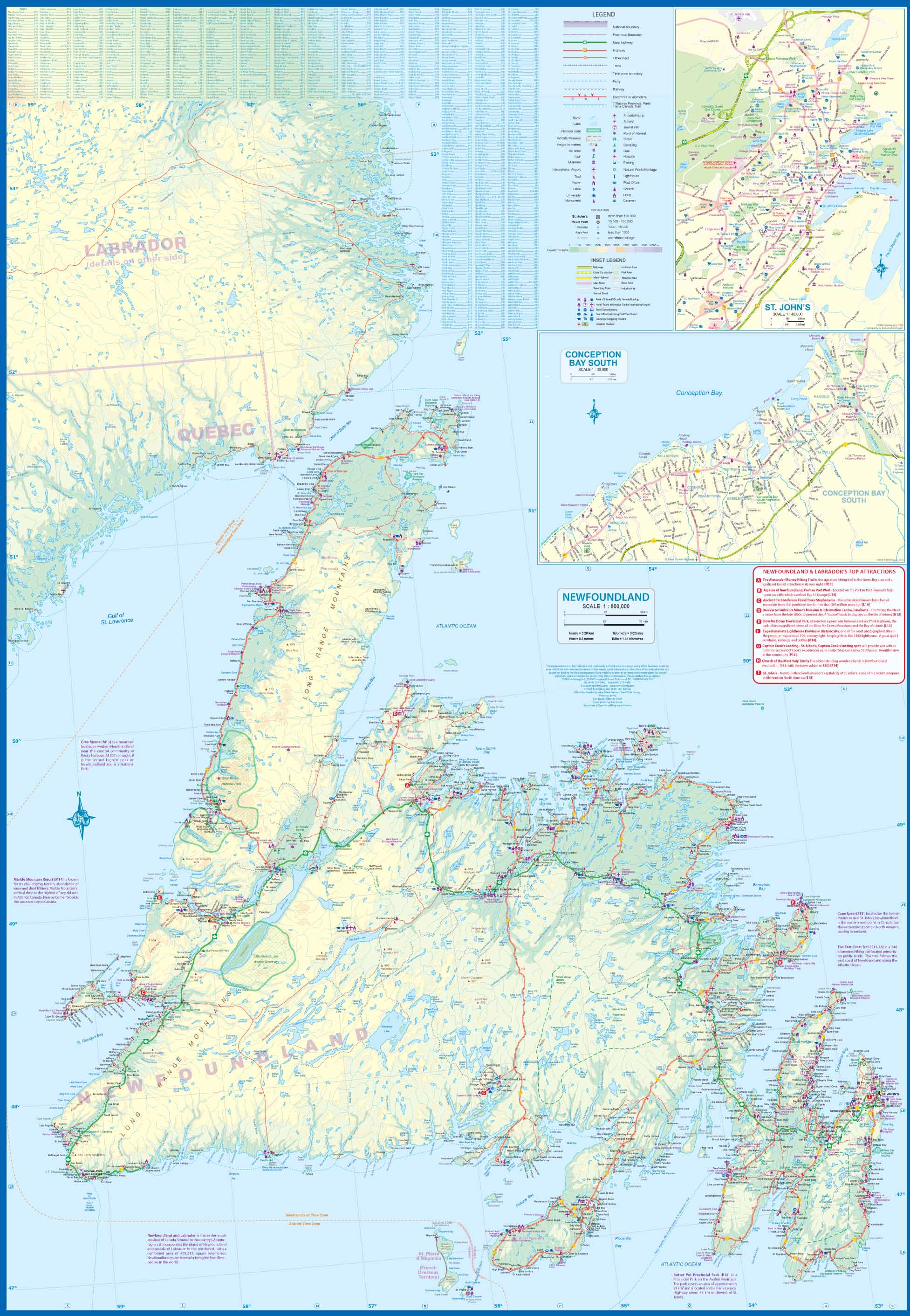 Newfoundland Road Map Maps for travel, City Maps, Road Maps, Guides, Globes, Topographic