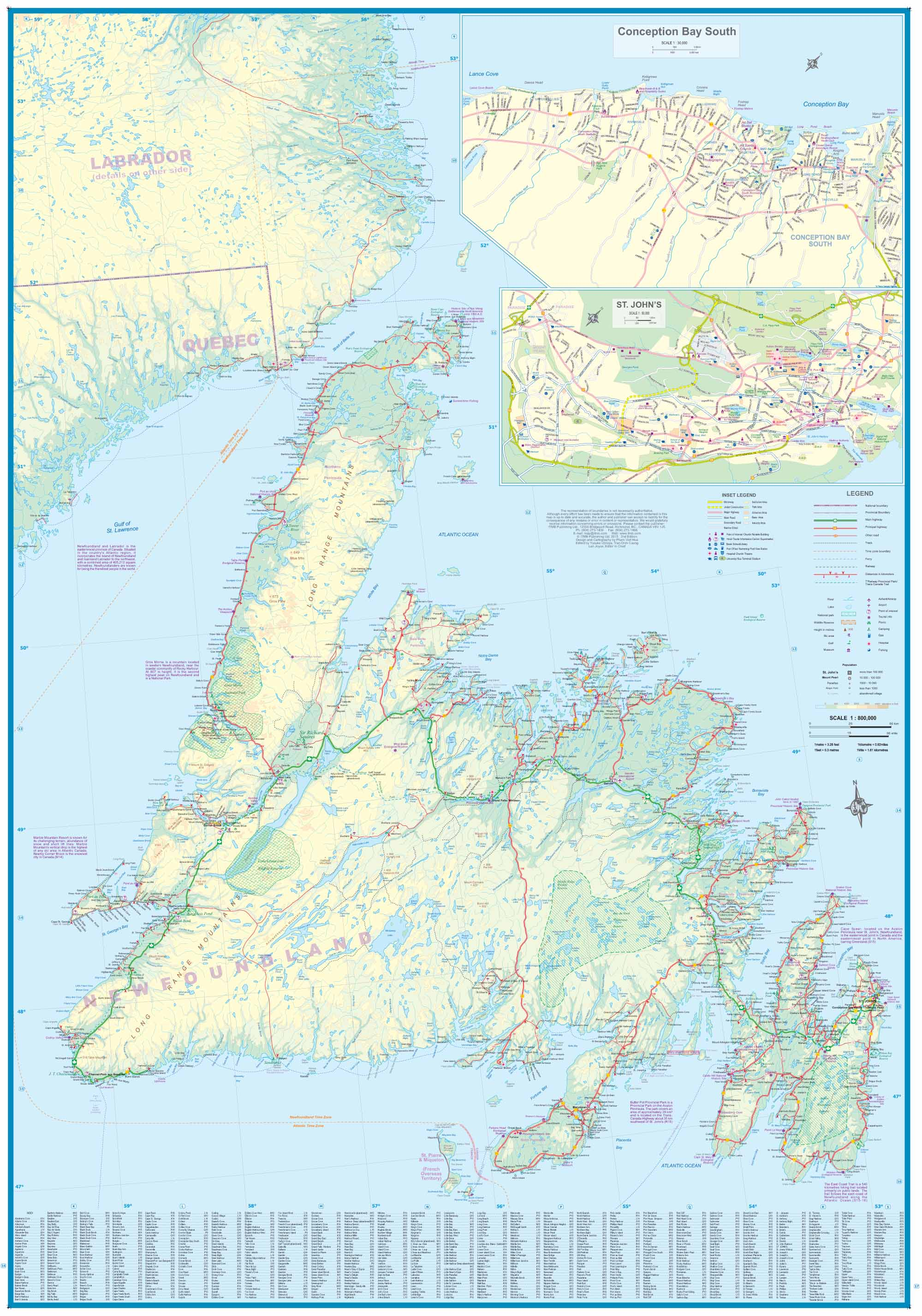 Maps For Travel City Maps Road Maps Guides Globes Topographic - Map of newfoundland