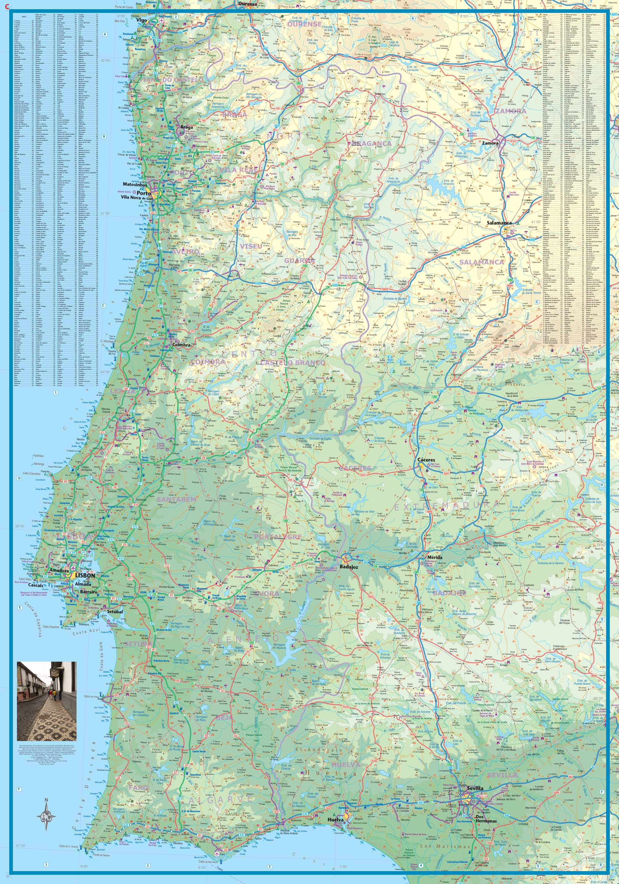 Maps For Travel City Maps Road Maps Guides Globes Topographic - Portugal map south