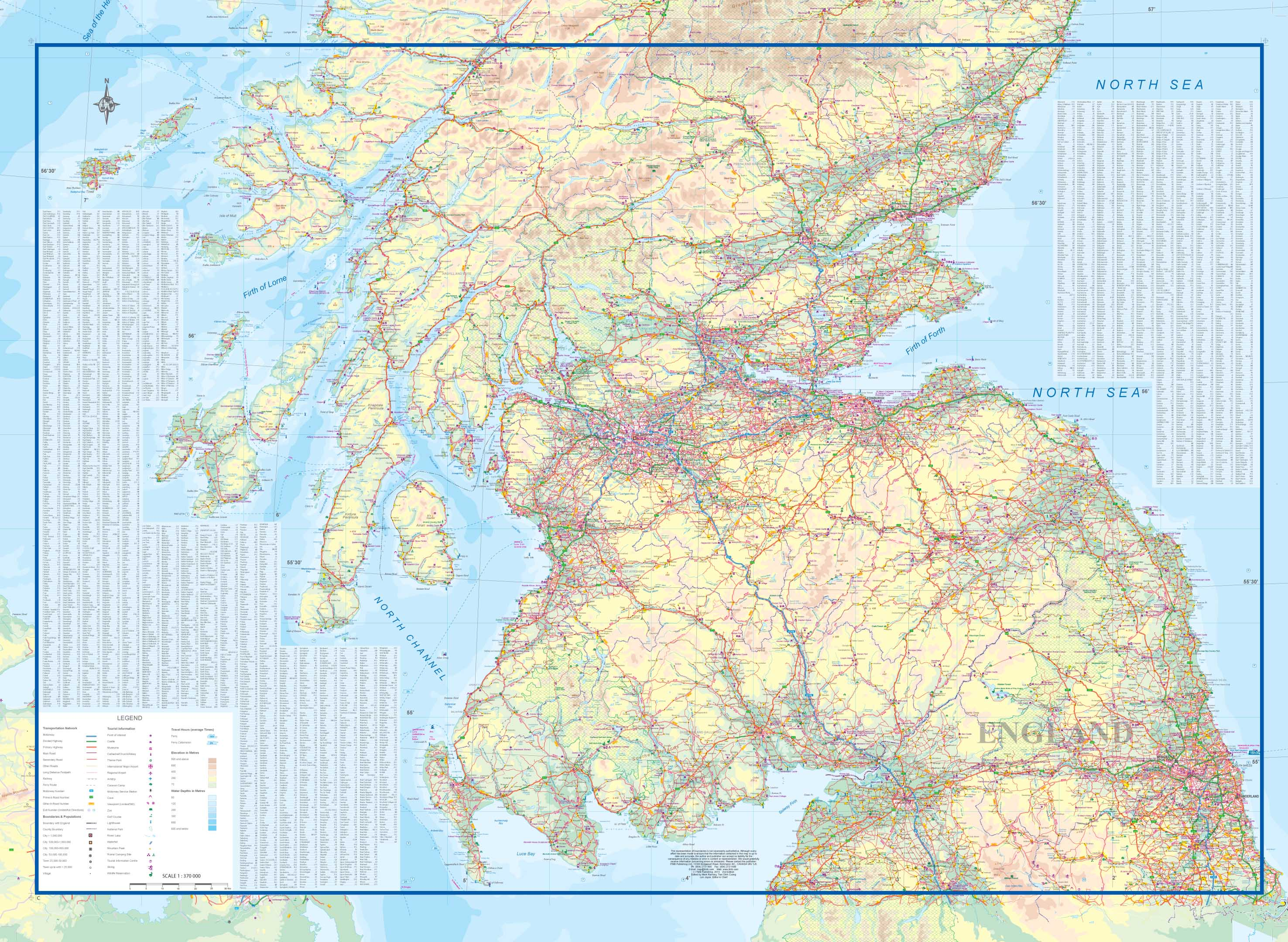 Maps for travel City Maps Road Maps Guides Globes Topographic – Scotland Travel Map