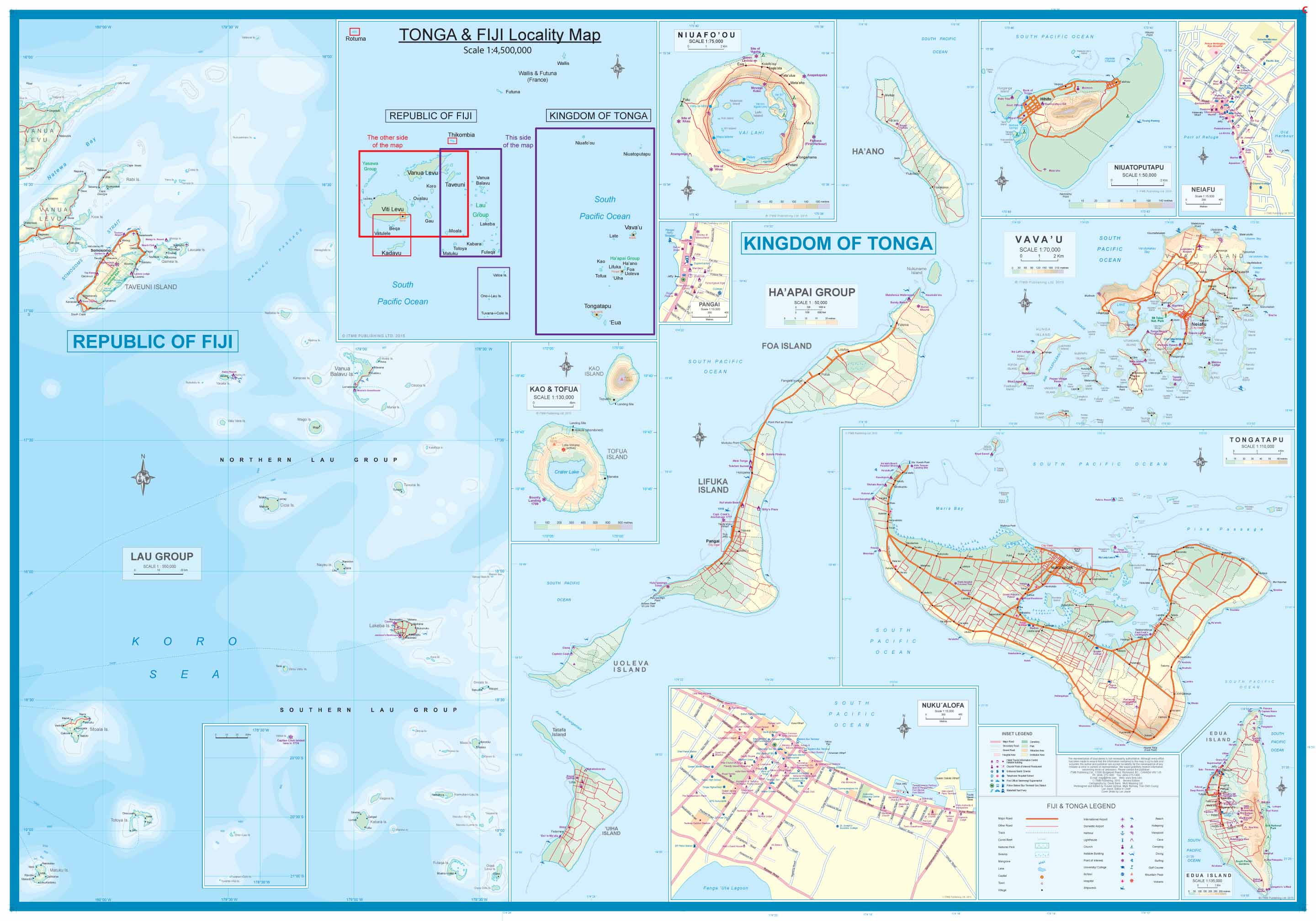 Maps For Travel City Maps Road Maps Guides Globes Topographic - Tonga map