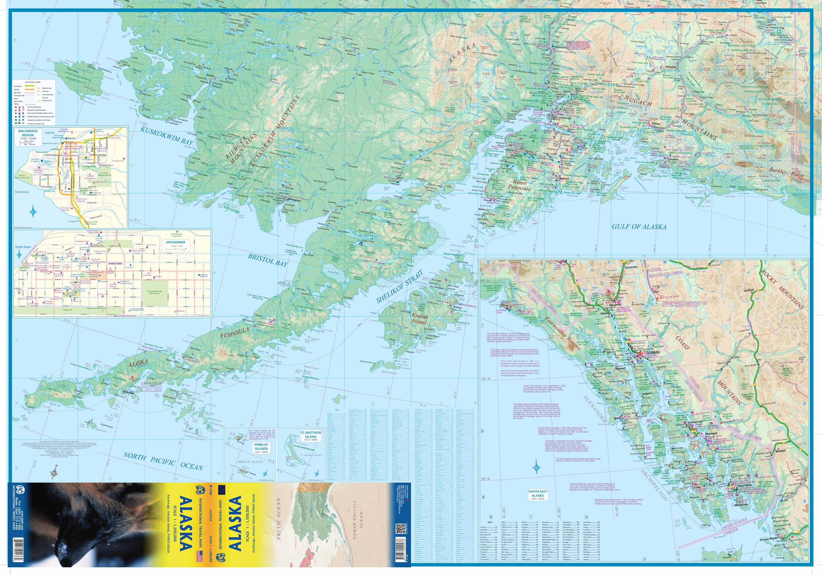 Maps for travel City Maps Road Maps Guides Globes Topographic – Alaska Travel Map