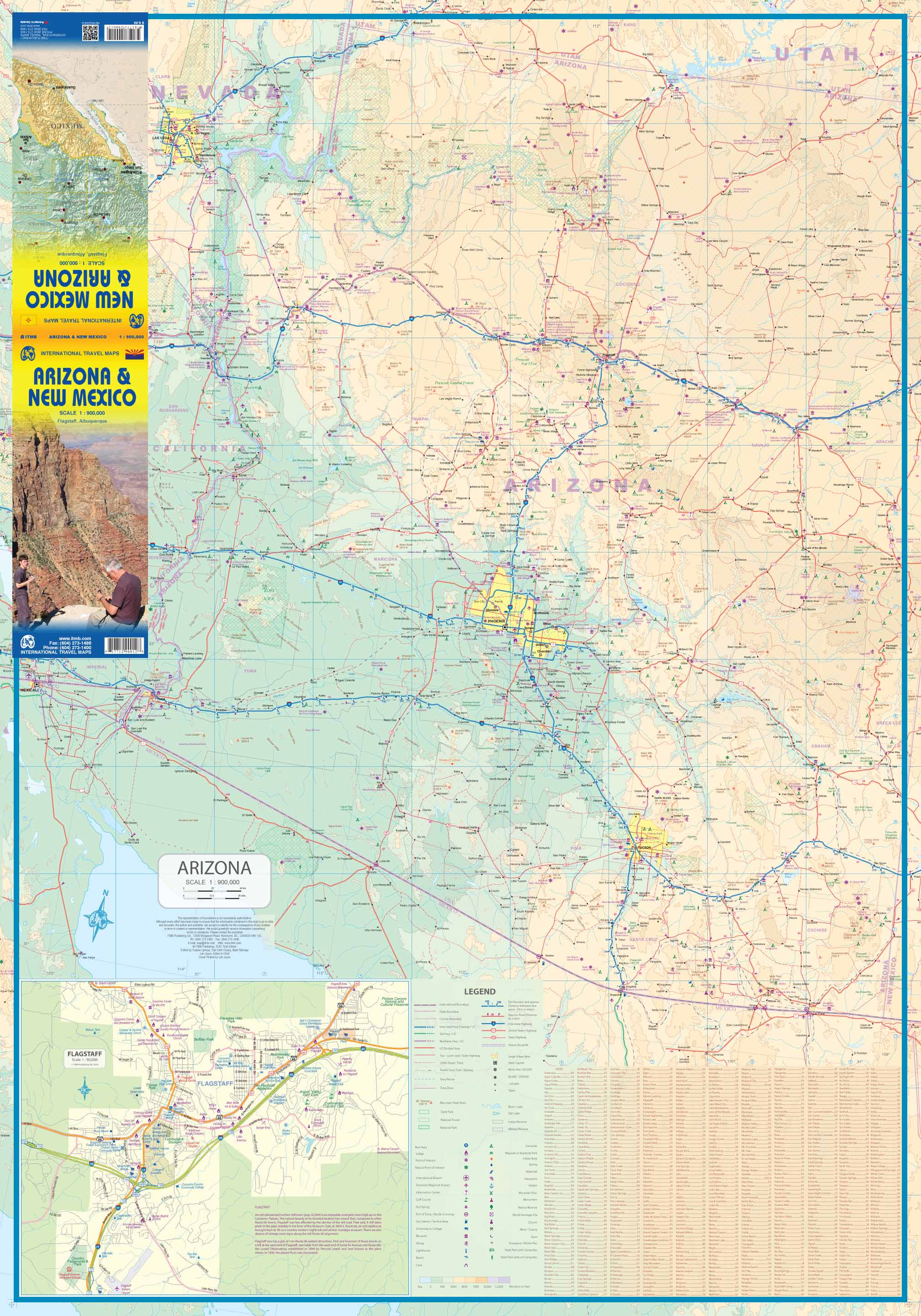 Maps for travel City Maps Road Maps Guides Globes Topographic – Arizona Travel Map
