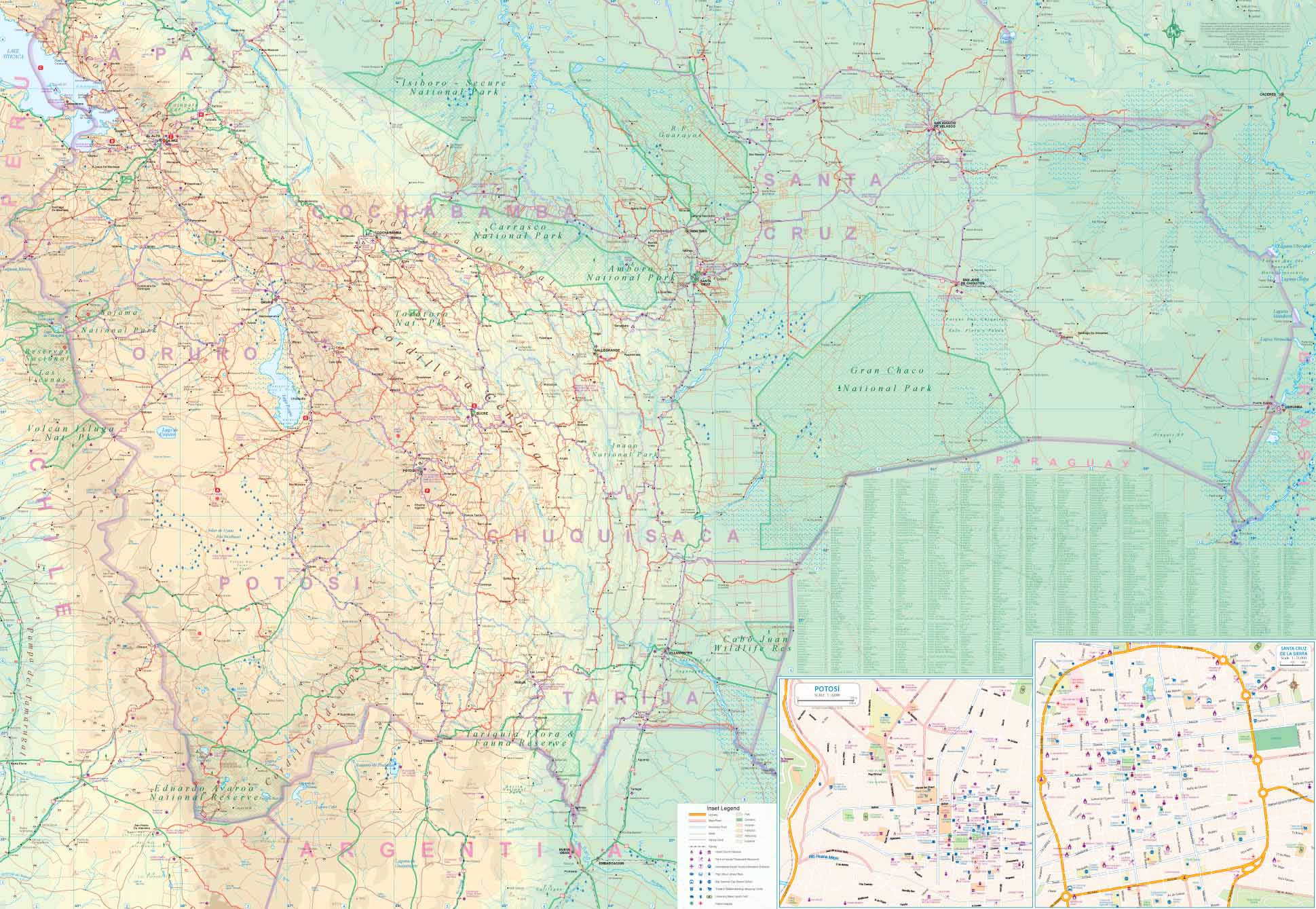 Maps for travel, City Maps, Road Maps, Guides, Globes, Topographic Quebec State Physical Map on