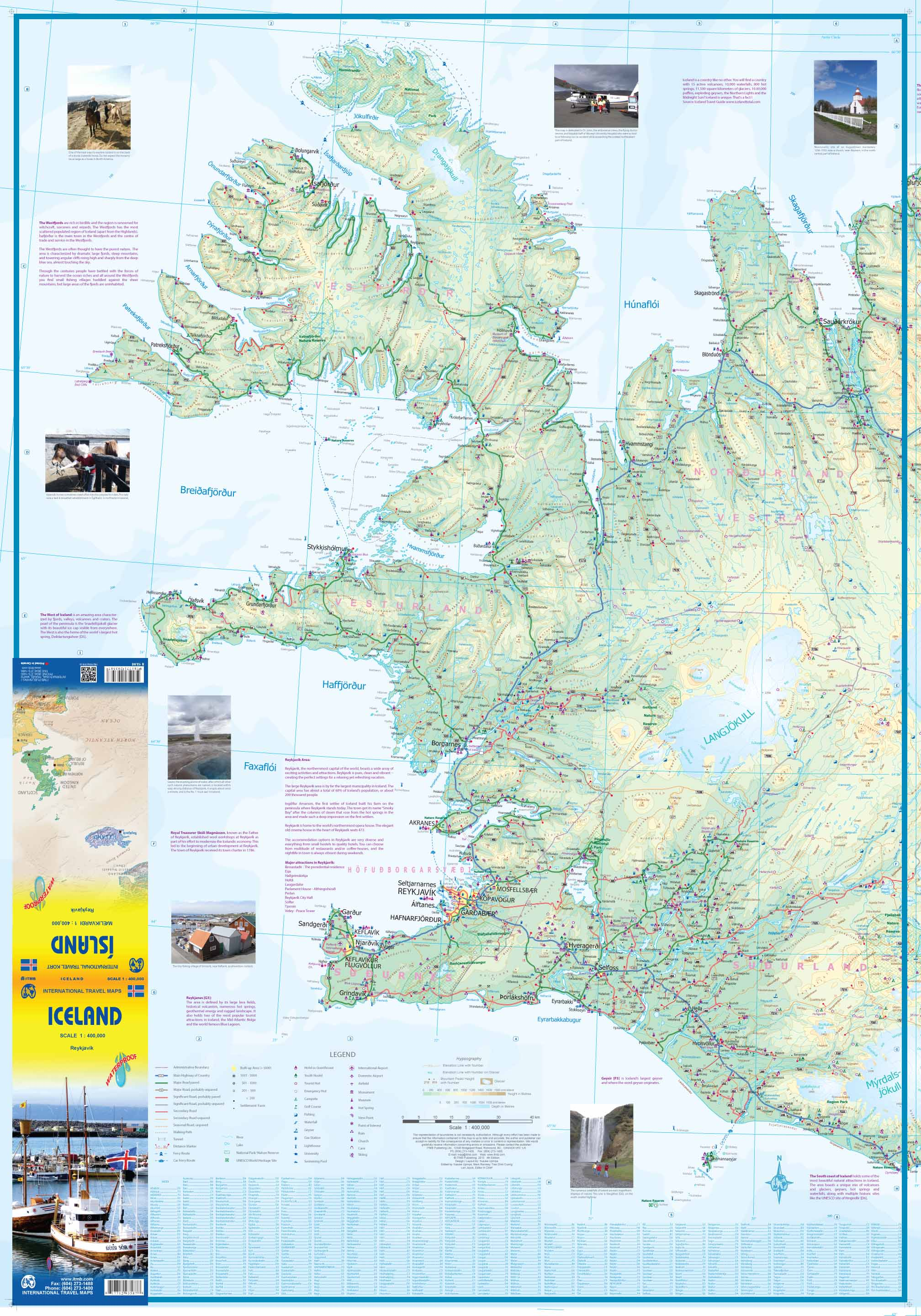 Maps for travel City Maps Road Maps Guides Globes Topographic – Iceland Travel Map