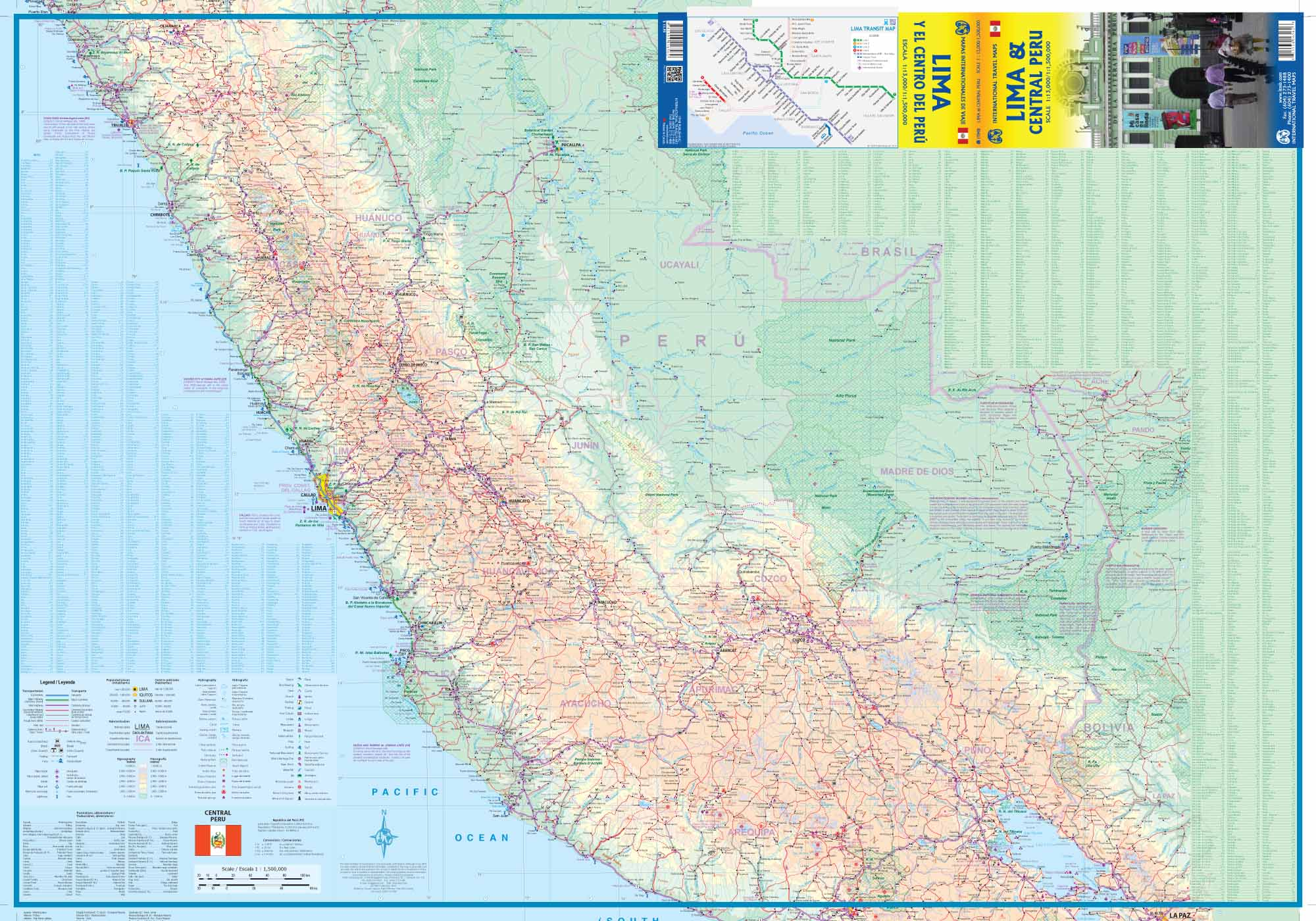 Maps For Travel City Maps Road Maps Guides Globes Topographic - Road map of peru