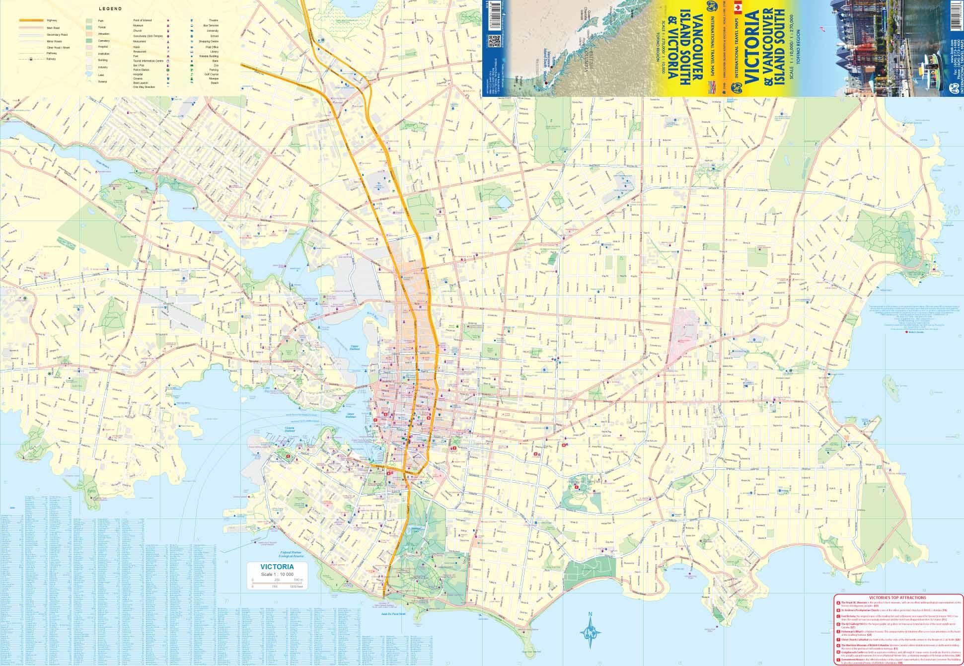 Carte Canada Est Detaillee.Carte Routiere Victoria Vancouver Ile Sud Canada Au 1 10 1 270